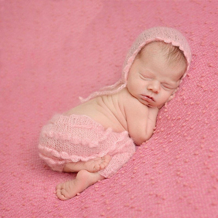 Newborn Pink Ruffles Pants and Hat Photography Prop