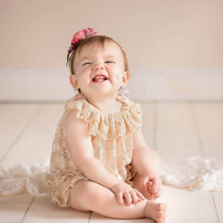 Baby Floral Lace Dress Photo Prop