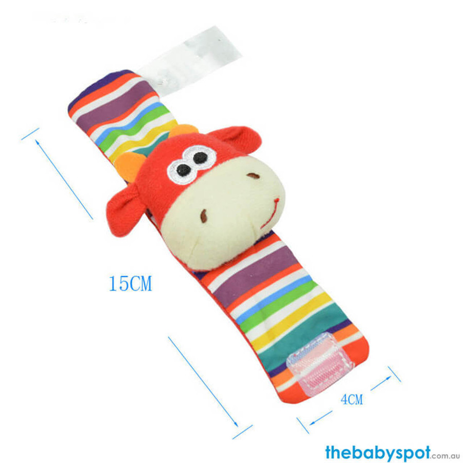 Rattle Socks with Wrist Band