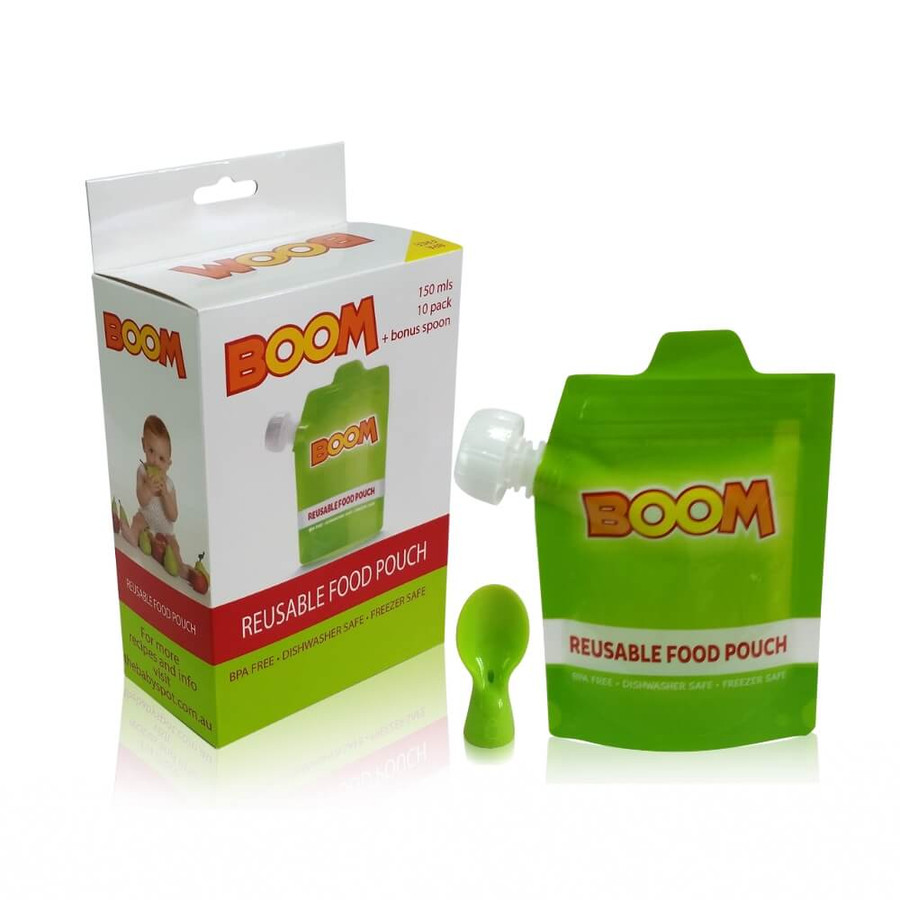 BOOM Reusable Food Pouch 30 PK