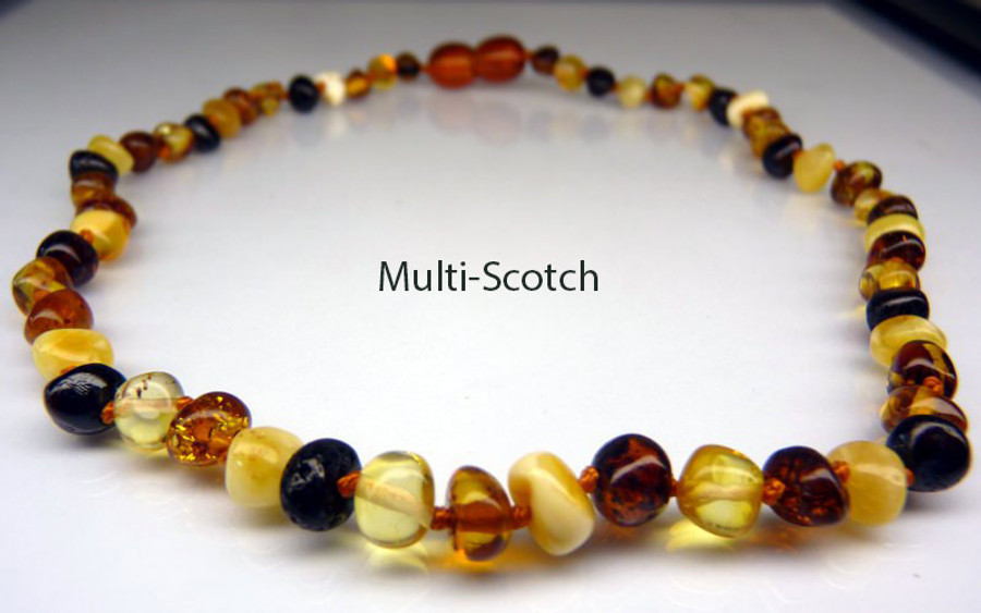 Amfber Teething Necklace - Multi-Scotch