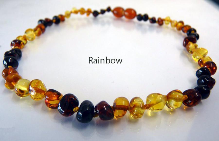 Amber Teething Necklace - Rainbow