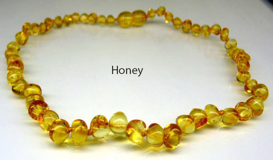 Amber Teething Necklace - Honey
