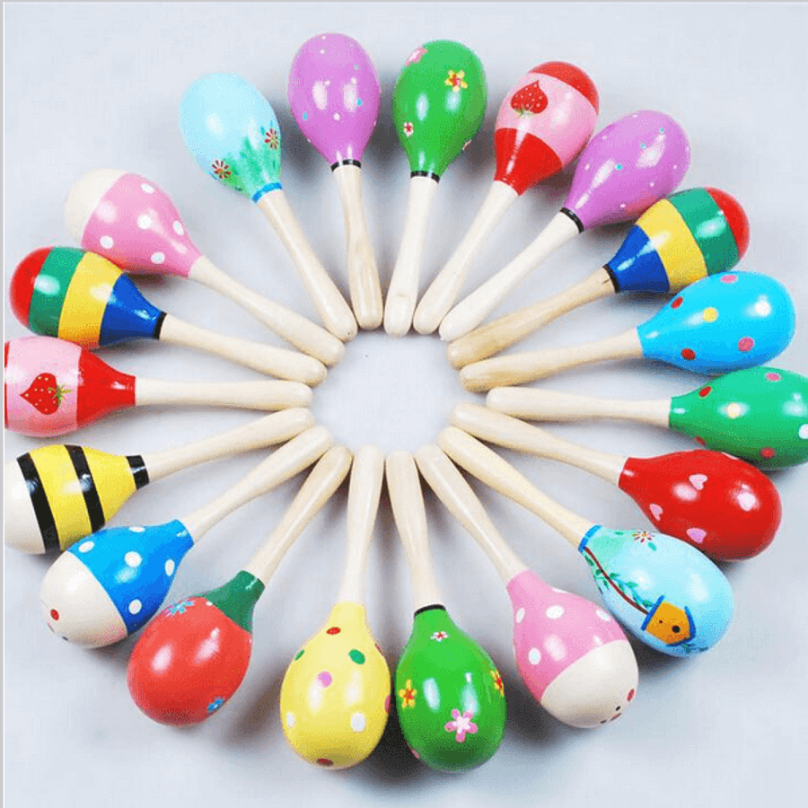 Wooden Baby Toy Rattle/Maracas