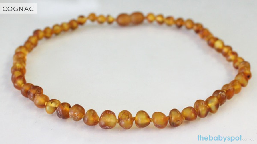 Raw Amber Teething Necklaces  - COGNAC