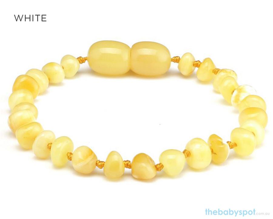 Amber Teething Bracelets - WHITE