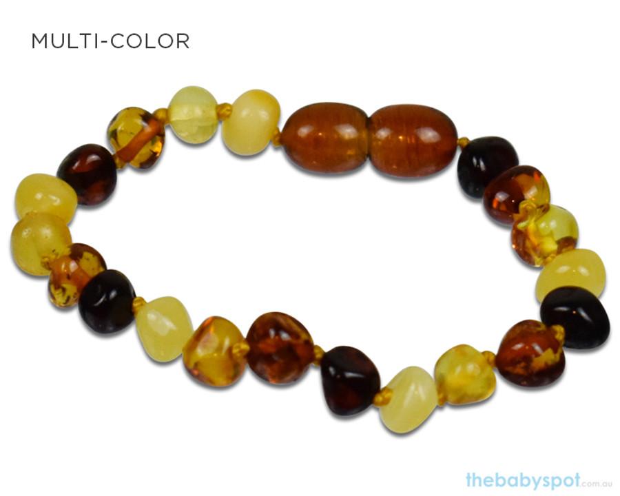 Amber Teething Bracelets - MULTI-COLOR