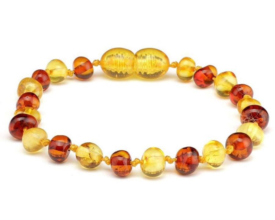 Amber Teething Bracelets - BI-COLOUR