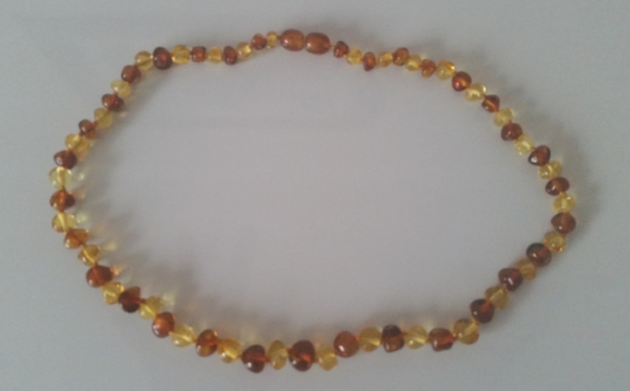 Adult Amber Necklace -Bi Color