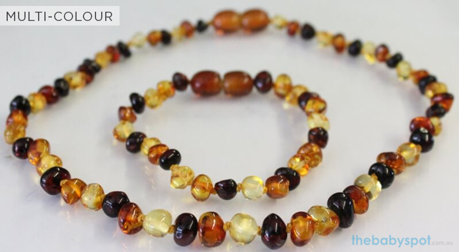 Amber Necklaces for Mum and Baby - MULTI-COLOUR