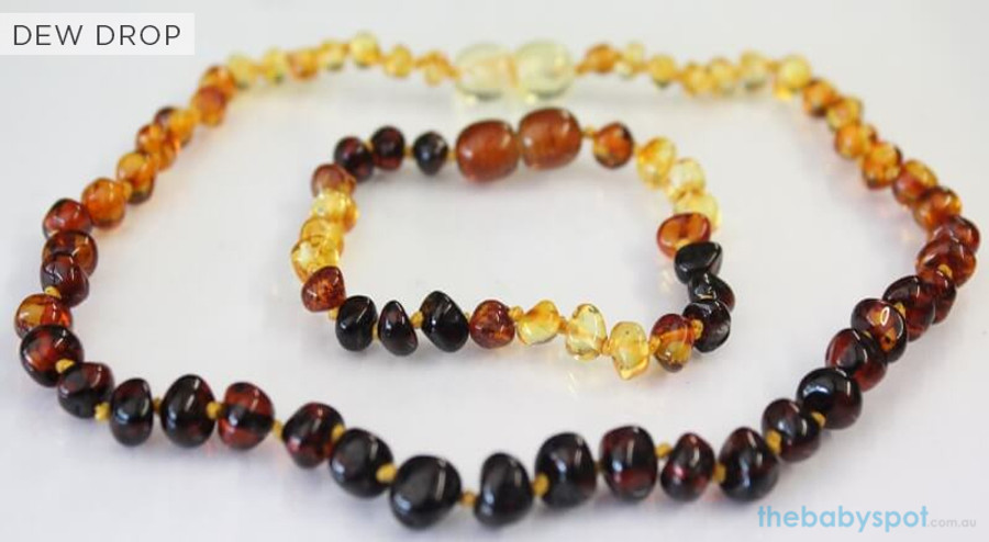 Amber Necklaces for Mum and Baby - DEW DROP