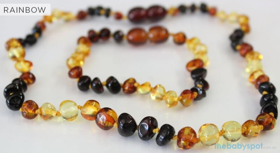 Amber Necklaces for Mum and Baby - RAINBOW