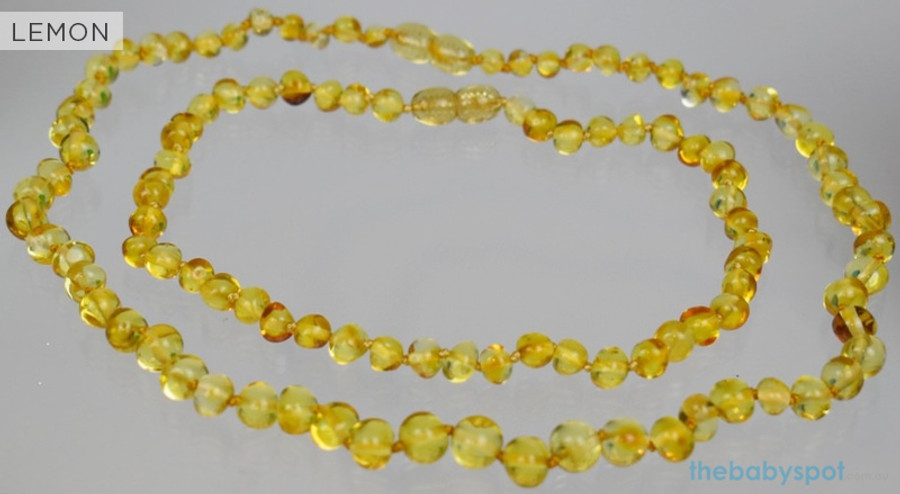 Amber Necklaces for Mum and Baby - LEMON