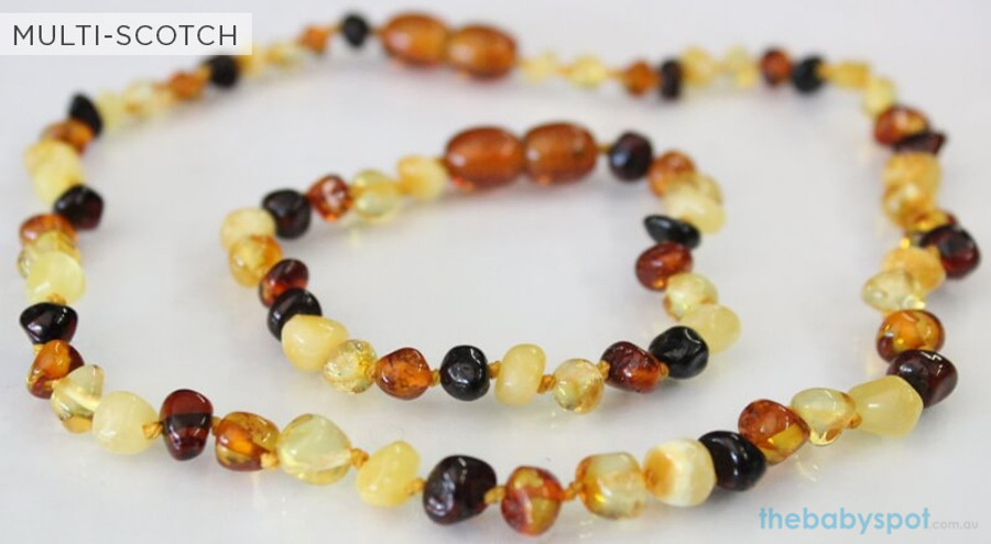Amber Necklaces for Mum and Baby - MULTI-SCOTCH