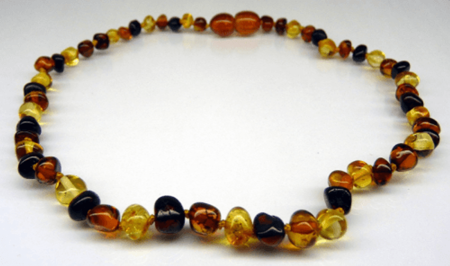 Amber Teething Necklace - Multicolour