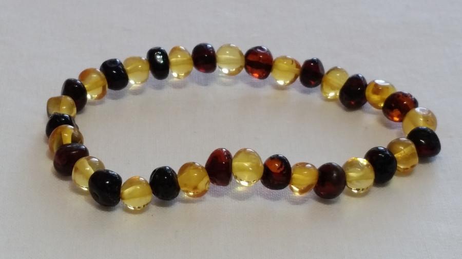 Adult Amber Bracelet - Yellow Cherry
