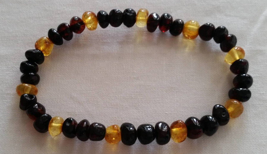Adult Amber Bracelet - Cherry Lemon