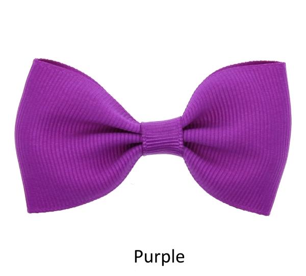purple baby girl hair clips mini bow