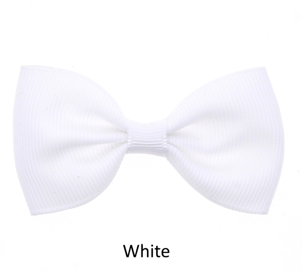 white baby girl hair clips mini bow