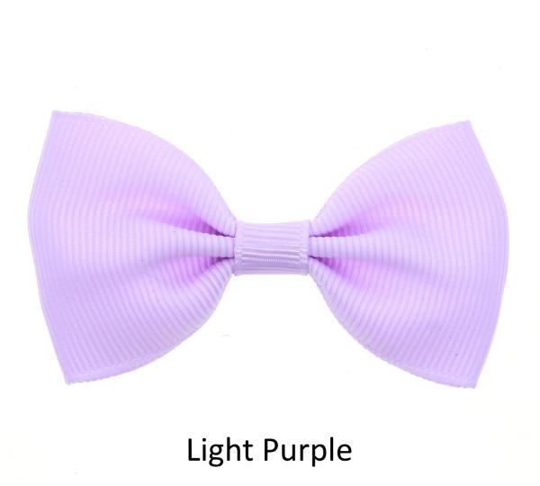light purple baby girl hair clips mini bow