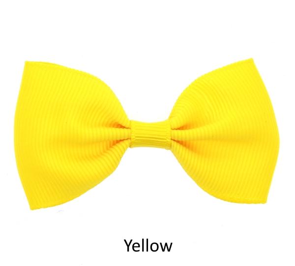yellow baby girl hair clips mini bow