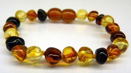 multi color amber teething necklace