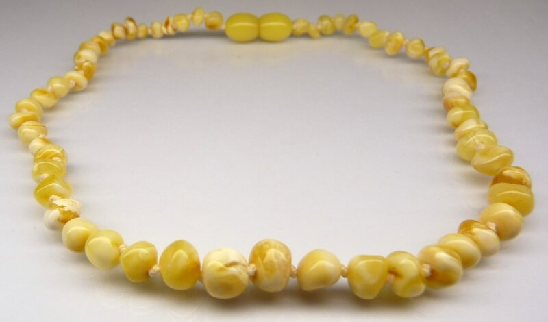 natural white amber teething necklace