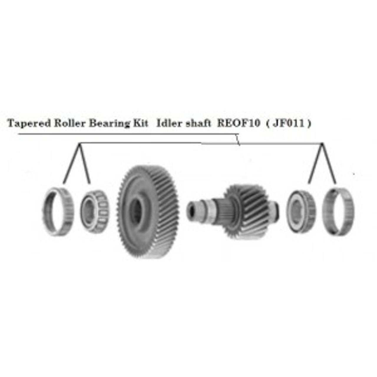 Tapered roller bearing kit JF011 4WD