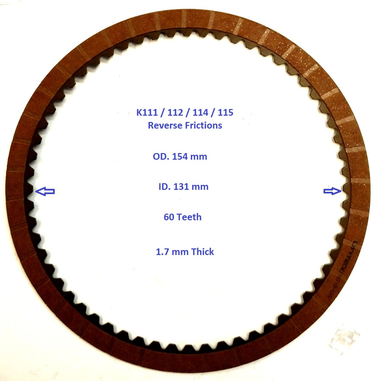 Toyota K111/112  Reverse  Friction disc