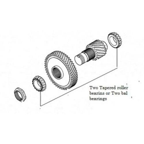 F1C1 CVT Idler shaft Bearing kit (Tapered roller bearings) NSK R30-9