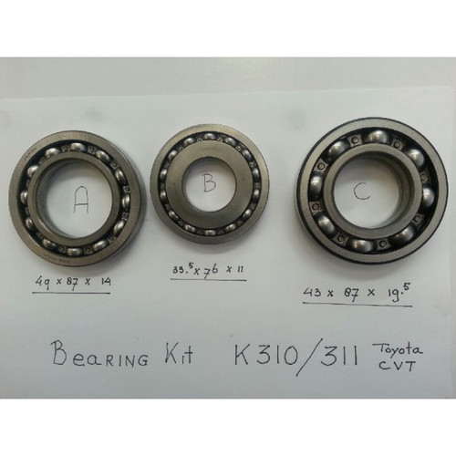 Main Bearing kit Toyota K310/k311/K312 /313 CVT Transmission
