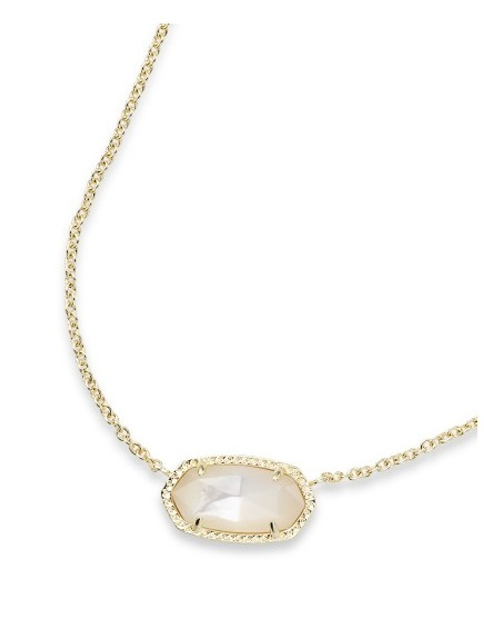 Kendra Scott Elisa Necklace Gold Tone Ivory Pearl June Hill S