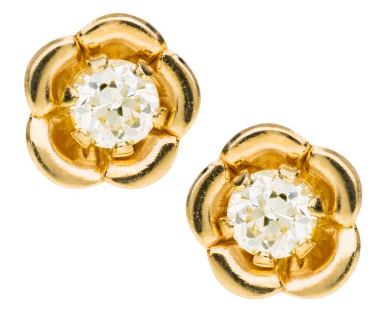 GE243 CZ Flower Earrings