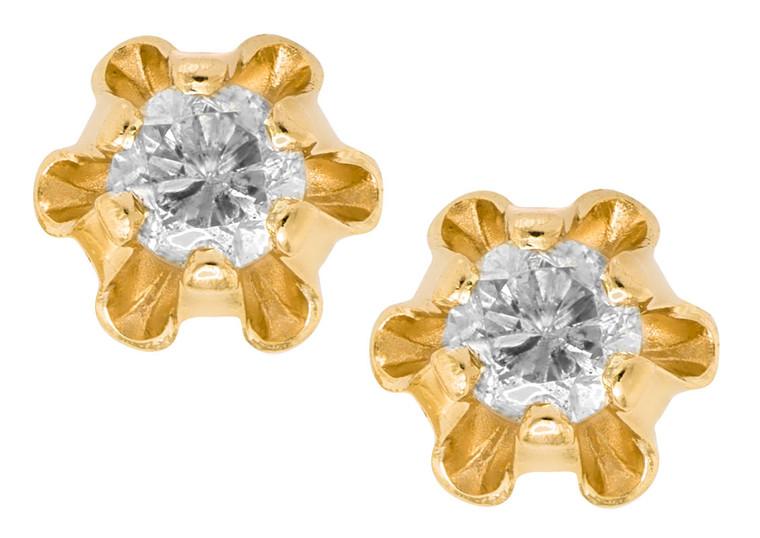 GE293 Buttercup Diamond Studs