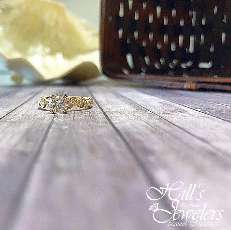 1.44 cttw Yellow Gold Engagement Ring