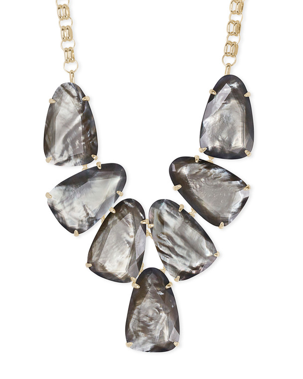 Harlow Statement Necklace in Gray Illusion