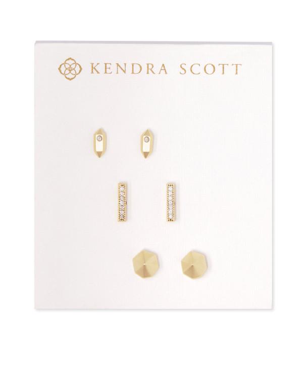 Austin Stud Earring Set in Gold