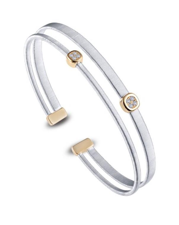 Lafonn Two Strand Textured Bracelet (B0080CLT72)