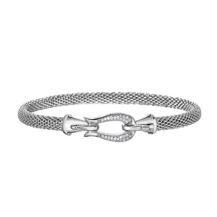 Popcorn Horsebit Bracelet with Diamonds