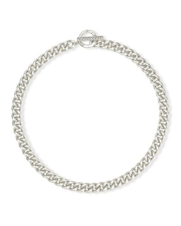 Whitley Chain Necklace- Rhodium