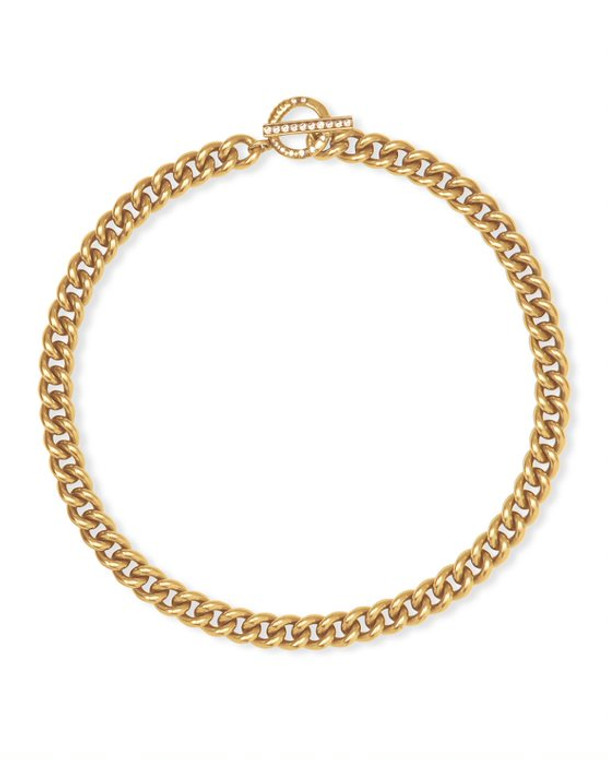 Whitley Chain Necklace-Vintage Gold Tone