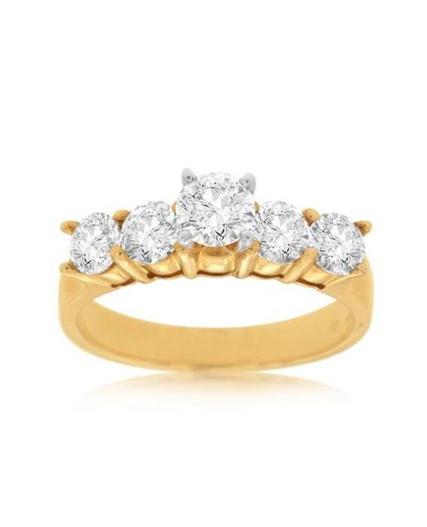 1.20cttw Round Five Stone Engagement Ring