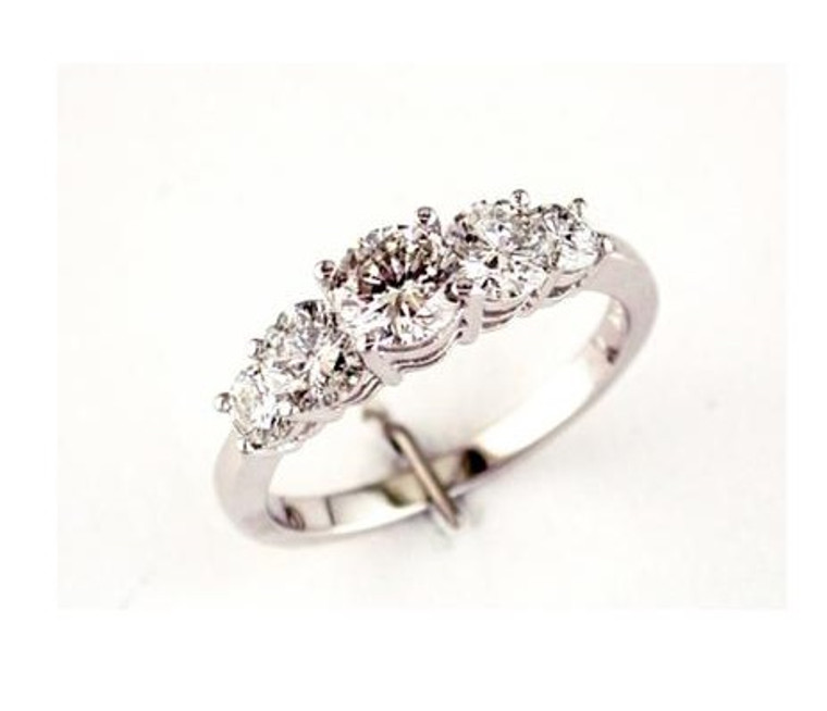 1.50cttw Round Five Stone Engagement Ring