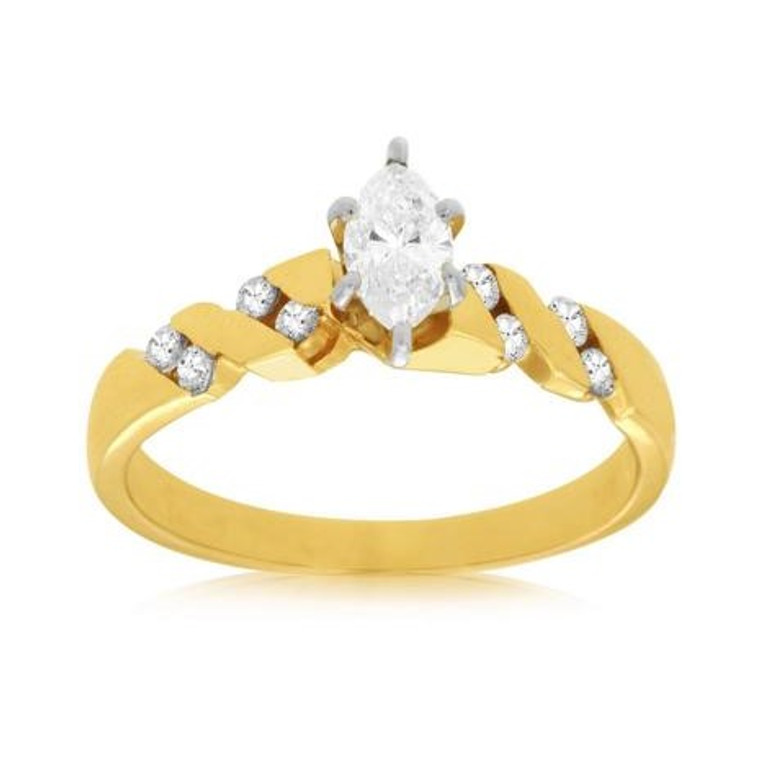 .52cttw Marquise Engagement Ring with Round Accents