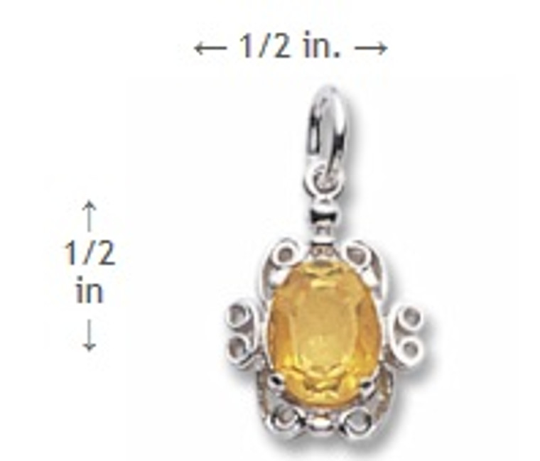 November Birthstone Charm