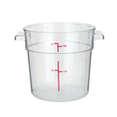 Winco PCRC-1 1 Qt. Clear Round Polycarbonate Food Storage Container
