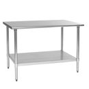 """Eagle Group T3048B 48""""W X 30""""D 430 Stainless Steel Top Budget Series Work Table"""