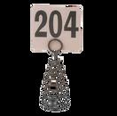 """American Metalcraft MHSB7 6""""H Black Spiral Number Holder"""