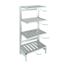 "Channel ECC2436 Shelf 4"" E-Channel 36""W Cantilevered Aluminum Construction"