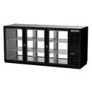 """Beverage Air BB72HC-1-F-G-PT-B-27 72""""W Three-Section Glass Door Refrigerated Open Food Rated Back Bar Pass-Thru Storage Cabinet"""